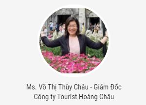 Ms. Võ Thị Thùy Châu - công ty Tourist Hoàng Châu