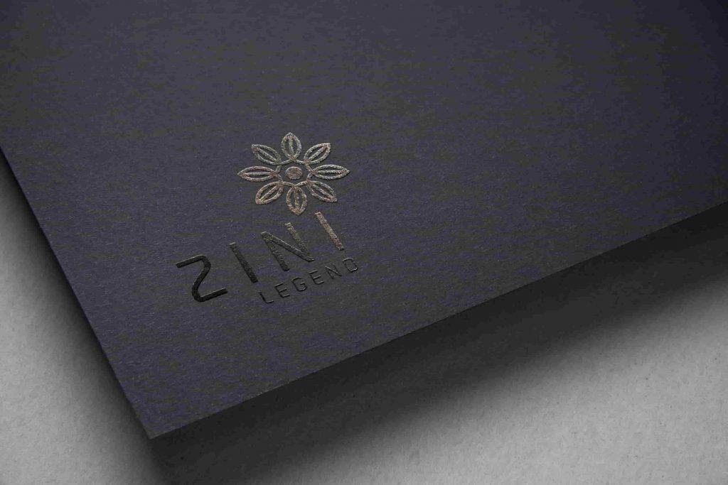 logo zini được in trên góc sổ