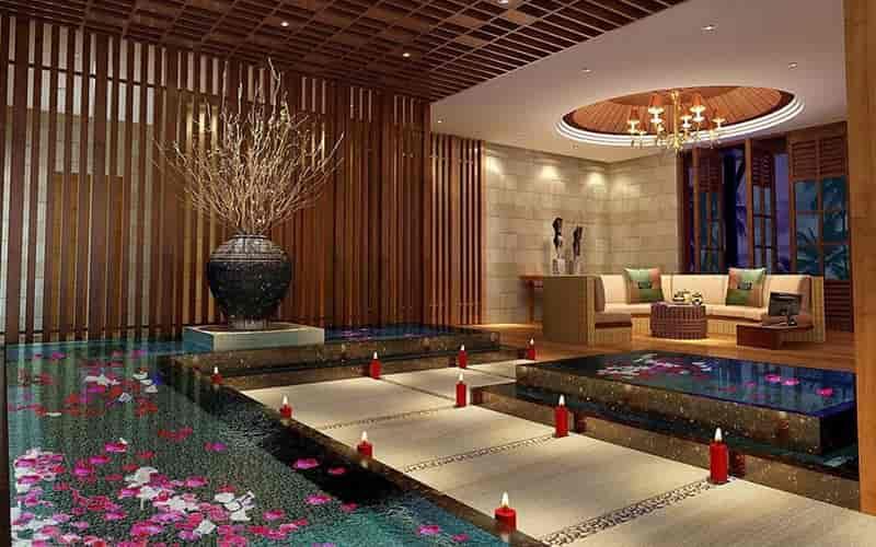 Spa thường sử dụng ánh sáng dịu nhẹ để mang đến sự thư giãn cho khách hàng